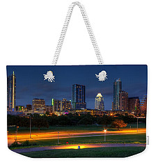 Weekender Tote Bag featuring the photograph Twilight Skyline by Dave Files