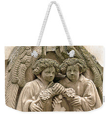 Twin Angels Weekender Tote Bag
