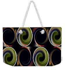 Weekender Tote Bag featuring the mixed media Twist Of Green by Ann Calvo