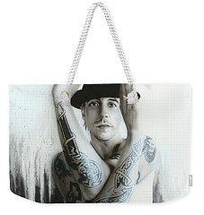 Anthony Kiedis - ' Twisting And Turning Your Feelings Are Burning ' Weekender Tote Bag by Christian Chapman Art