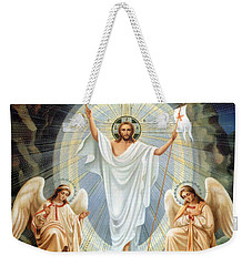 Two Angels Weekender Tote Bag by Munir Alawi
