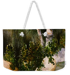 Two Birch By Rocky Stream Weekender Tote Bag