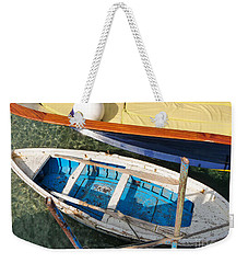 Weekender Tote Bag featuring the photograph Two Boats by Mike Ste Marie
