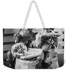 Two Boys Eating Watermelon Weekender Tote Bag by Underwood Archives