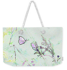 Weekender Tote Bag featuring the photograph Two Butterflies by Patricia Griffin Brett