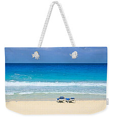 Two Chairs On Cancun Beach Weekender Tote Bag