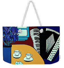 Two Cups One Accordian Weekender Tote Bag