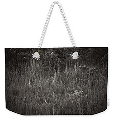 Weekender Tote Bag featuring the photograph Two Deer Hiding by Bradley R Youngberg