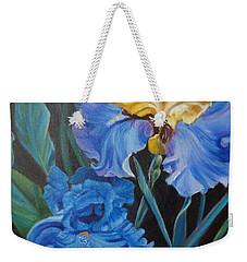Two Fancy Iris Weekender Tote Bag