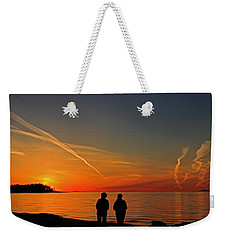 Two Friends Enjoying A Sunset Weekender Tote Bag