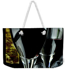 Two Glasses With Red Wine Weekender Tote Bag