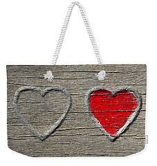 Weekender Tote Bag featuring the photograph Two Hearts by Brooke T Ryan