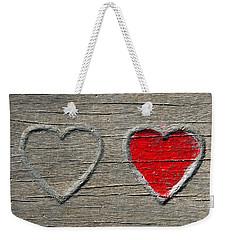 Two Hearts Weekender Tote Bag by Brooke T Ryan