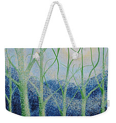 Weekender Tote Bag featuring the painting Two Hearts by Holly Carmichael