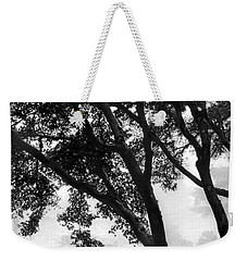 Two Heron - Black And White Weekender Tote Bag