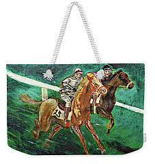 Two Horse Race Weekender Tote Bag