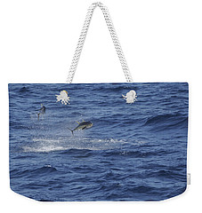 Two Jumping Yellowfin Tuna Weekender Tote Bag