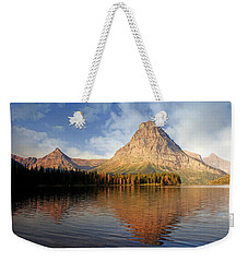 Weekender Tote Bag featuring the photograph Two Medicine by Marty Koch