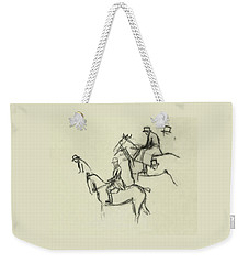 Two Men Horse Riding Weekender Tote Bag