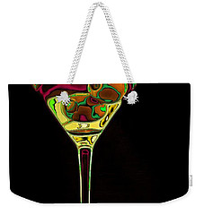 Weekender Tote Bag featuring the digital art Two Olive Martini by Dragica  Micki Fortuna