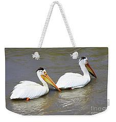 Two Pelicans Weekender Tote Bag