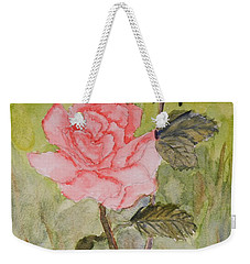 Two Pink Roses Weekender Tote Bag