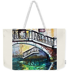 Two Roses Floating Weekender Tote Bag by Rita Brown