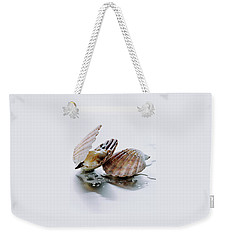 Two Scallops Weekender Tote Bag by Romulo Yanes