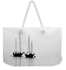 Two Ships In The Fog Weekender Tote Bag by AJ  Schibig