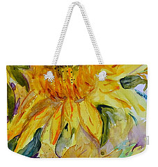 Two Sunflowers Weekender Tote Bag by Beverley Harper Tinsley