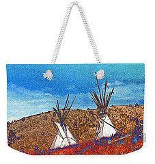 Two Teepees Weekender Tote Bag