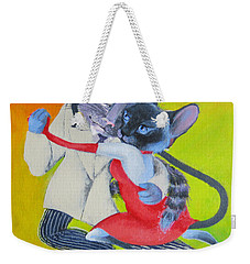 Two To Cats' Tango Weekender Tote Bag