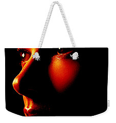 Two Tone Portrait Weekender Tote Bag by Richard Thomas