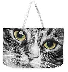 Two Toned Cat Eyes Weekender Tote Bag