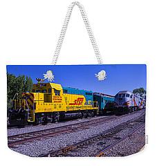 Two Trains Weekender Tote Bag