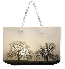 Two Trees In Fog Weekender Tote Bag
