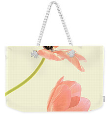 Two Tulips In Pink Transparency Weekender Tote Bag