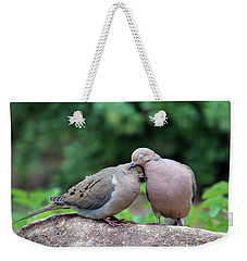 Two Turtle Doves Weekender Tote Bag by Cynthia Guinn