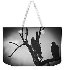 Weekender Tote Bag featuring the photograph Two Vultures by Bradley R Youngberg