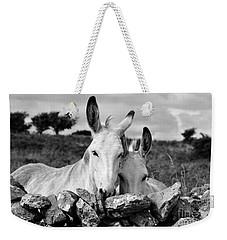 Two White Irish Donkeys Weekender Tote Bag by RicardMN Photography