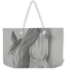 Two Wild Horses Weekender Tote Bag