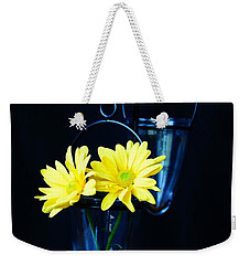 Two Yellow Daisies Weekender Tote Bag
