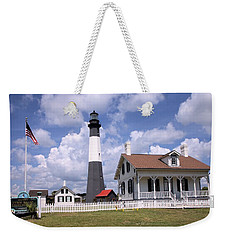 Weekender Tote Bag featuring the photograph Tybee Island Light by Gordon Elwell
