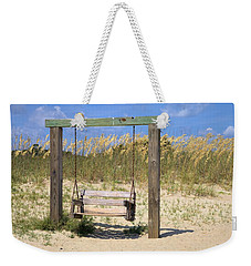 Weekender Tote Bag featuring the photograph Tybee Island Swing by Gordon Elwell