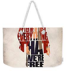 Tyler Durden Weekender Tote Bag by Ayse Deniz