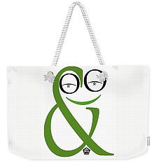 Typographical Frog Weekender Tote Bag