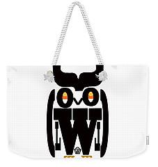 Weekender Tote Bag featuring the digital art Typoowl by Seth Weaver
