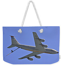 Weekender Tote Bag featuring the photograph U S Air Force Flyover by DigiArt Diaries by Vicky B Fuller