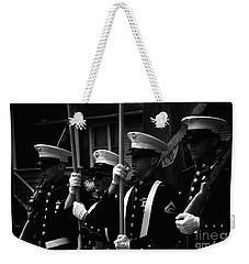 U. S. Marines - Monochrome Weekender Tote Bag
