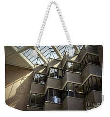 Uf Marston Science Library Accordian Window Wall Weekender Tote Bag by Lynn Palmer